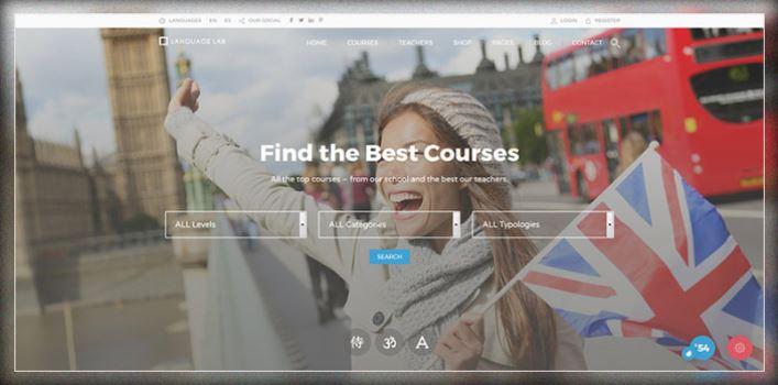 Mẫu website trung tâm ngoại ngữ WordPress.