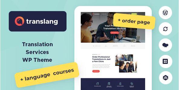 mẫu website trung tâm ngoại ngữ với Translang.