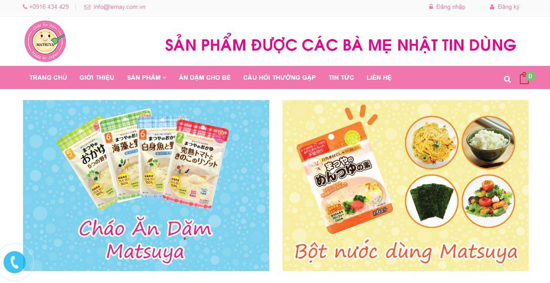 Matsuya - website mua hàng Nhật tại Việt Nam
