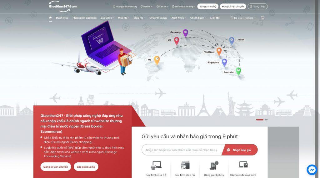 Công ty ship hàng Nhật về Việt Nam giaonhan247